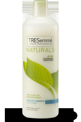TRESemme Naturals Vibrantly Smooth Conditioner:  Get softer, smoother hair with the natural benefits of coconut oil and jojoba leaf extract in this lightweight, silicone-free conditioner.    #TRESemme #natural #hair #conditioner #smooth: Coconut Oil