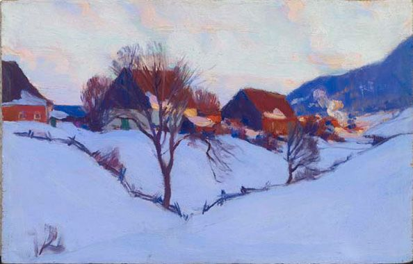 Clarence Gagnon. In the Baie St. Paul Valley, Charlevoix | AGO Art Gallery of Ontario