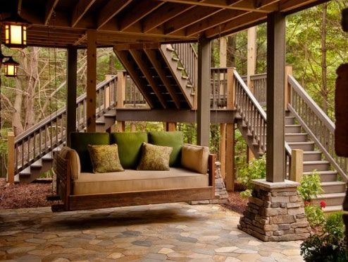 Images From Houzz Houzz Luxury Porch Swing At Home