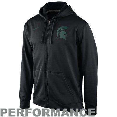 Nike Michigan State Spartans College Ko Full Zip Logo Performance