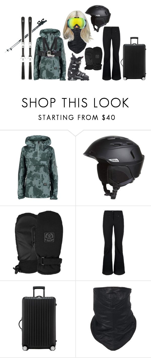 """Italy skiing"" by fashiondisguise on Polyvore featuring Smith Optics, POW, Fendi, Lacoste, Rimowa, Shaf International and GoPro"