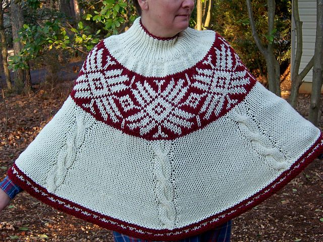Ravelry: Andean Winter Poncho pattern by Mary C. Gildersleeve