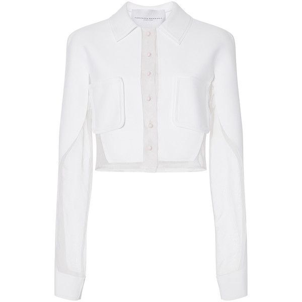Carolina Herrera Longsleeve Crop Blouse 1 690 Liked On