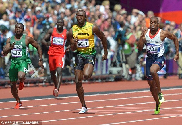 Lightning Bolt: Usain won his first round heat in the 100m #Jamaica