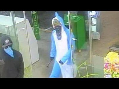 Cops Search For Robbery Suspect Dressed As Super Bowl Halftime Star Left Shark #news #alternativenews