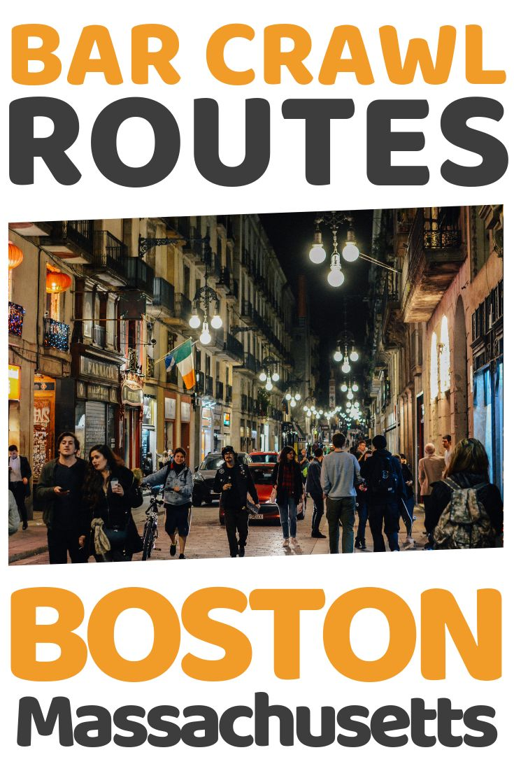 Bar Crawl Boston MA - 4 Best Places & Routes ...