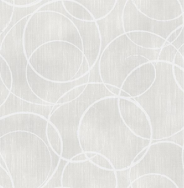 Ripple Light Grey Circle Geometric - Wallpaper