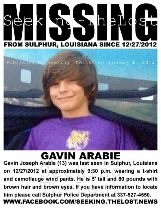 He's been missing since 2012 :( please pray for him