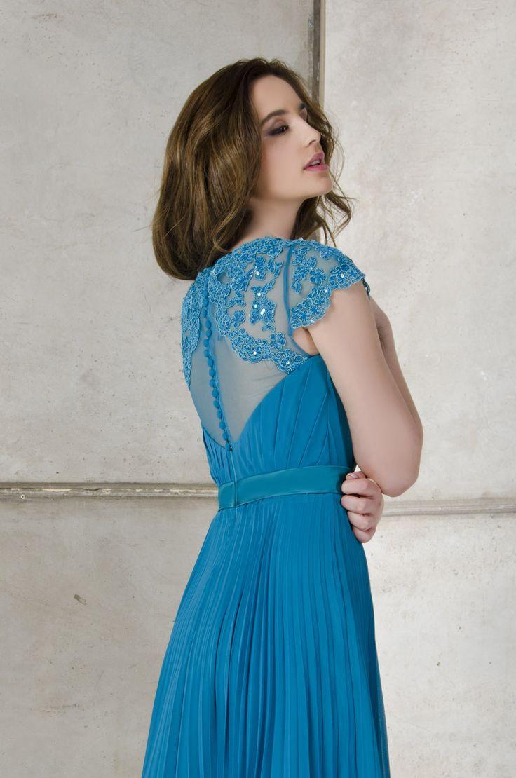Vestidos de noche color azul turquesa - Vestidos De Noche Azul Turquesa Necklace