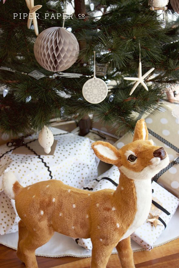 Nothing says Christmas like an oversized reindeer decoration! Love our new addition to our Christmas decorations.