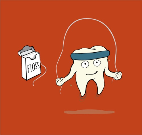 Keep your teeth healthy and strong - brush and floss daily and visit your dentist regularly.