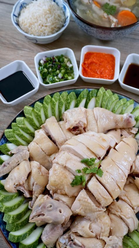 Singapore-Style Hainanese Chicken Rice  Recipe  Chicken -9102
