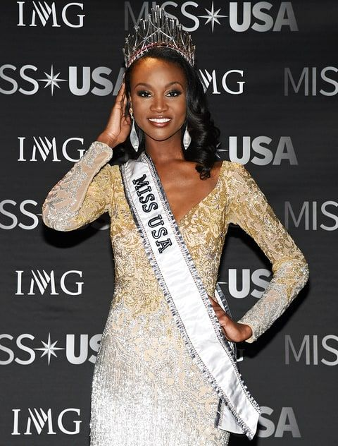 Miss USA 2016 Deshauna Barber is an Army Officer, graduated from Virginia State University with a Bachelors' degree in Business Management in 2011, received a Master's degree in Management Systems Information from the University of Maryland, and is a member of Sigma Gamma Rho Sorority.