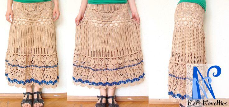 Skirt made with Szkoła Szydełkowania pattern: http://szkolaszydelkowania.pl/category/tutoriale/spodnica-maksi