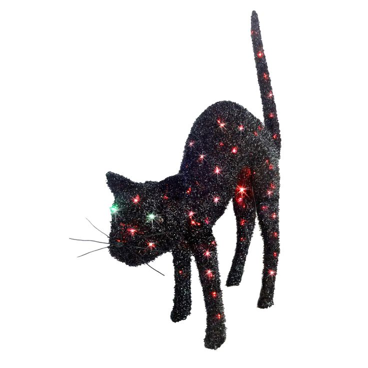 holiday living 31 ft animated halloween cat with multicolor incandescent lights - Lowes Halloween Decorations