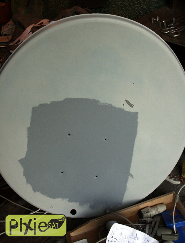 HOW TO PAINT satellite DISH, great tutorial - PiXieSAT