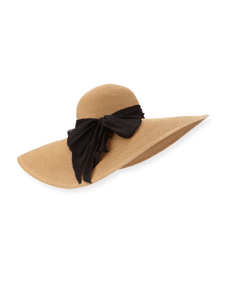 Sunny Wide-Brim Sun Hat, Camel, Size: M(22.5) - Eugenia Kim