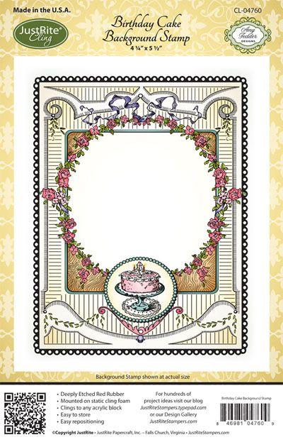 Birthday Cake Cling Background Stamp