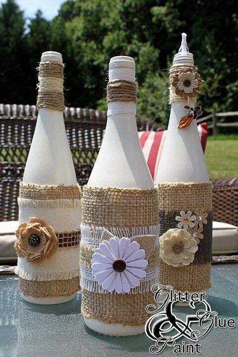 17 mejores ideas sobre botellas de hilo en pinterest for Ideas para decorar botellas
