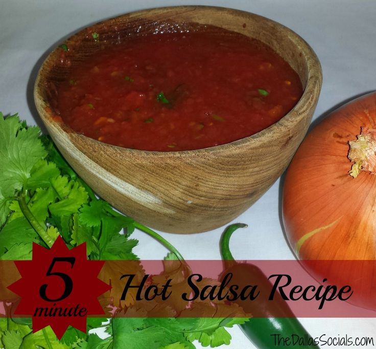 This quick and easy hot salsa recipe is a great addition for any party or dinner at home.