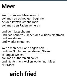 Meer - Erich Fried