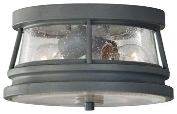 Murray Feiss Chelsea Harbor Traditional Outdoor Flush Mount Ceiling Light X-CTS3 - industrial - Outdoor Lighting - Arcadian Home & Lighting