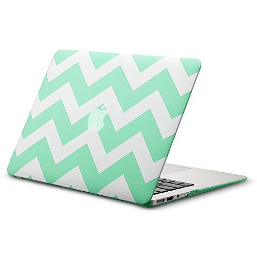 Mint green chevron Mac