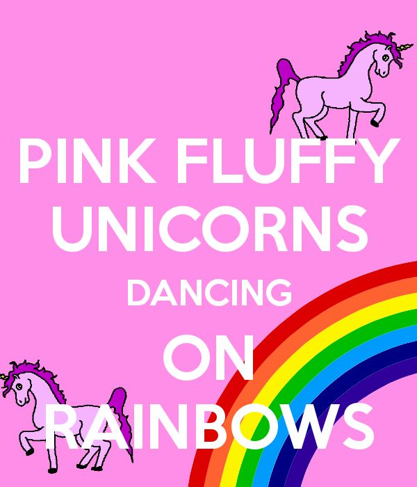 Pink Fluffy Unicorns Dancing On Rainbows Expressions