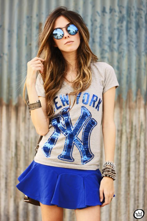 FashionCoolture -09.09.2013 OhKei t-shirt blue yankees (4)