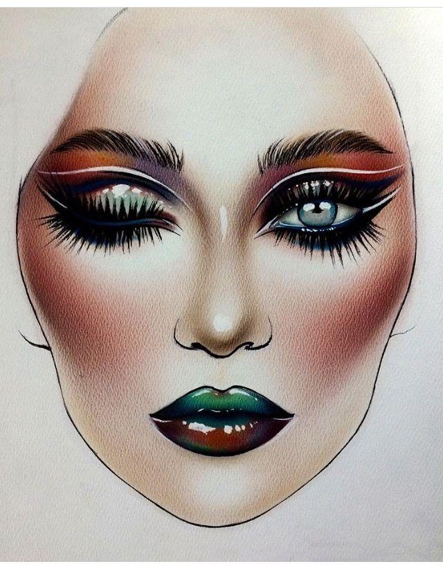 Makeup Drawing: 538 Best 【 】 FaceChart Art 【 】 Images On Pinterest