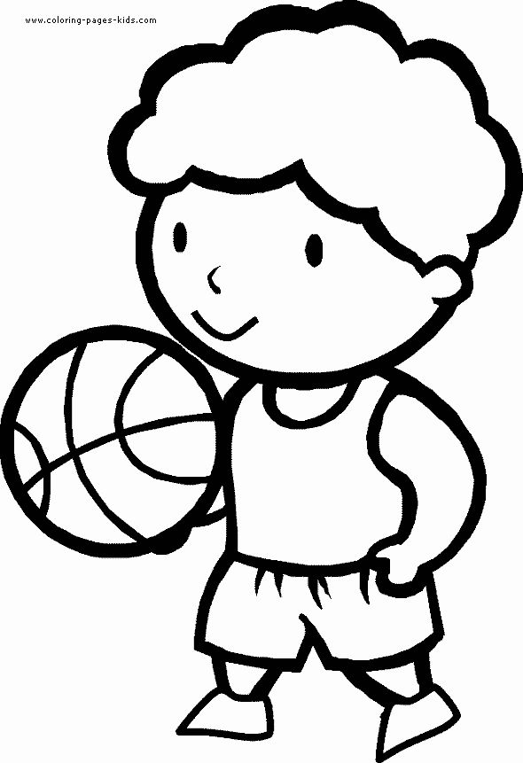 basketball coloring pages sport