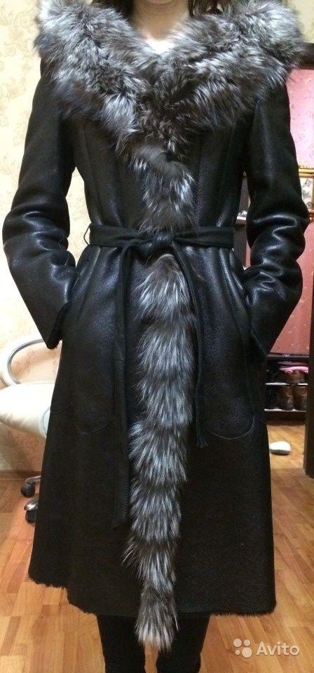 Дубленка черная женская в идеальном состоянии — фотография №1