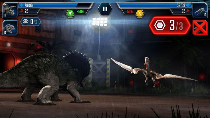 It is a park building/dinosaur battling game. In Jurassic World: The Game, you build up your very own dinosaur park with the intention of making a profit and more importantly, also with the intention of pitting dinosaurs against one another in fights.