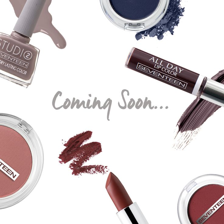 Coming Soon! | Seventeen Cosmetics #seventeencosmetics #fw1617 #comingsoon #makeup #theartofbeauty #lips #makeup #eyeshadows #nails