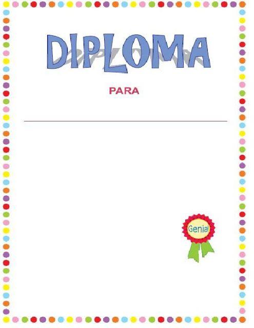 modelos de diplomas para imprimir para niños  (3)                                                                                                                                                                                 Más