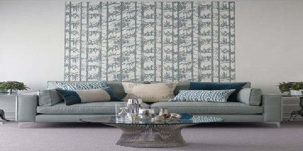 Decorating with Bamboo Print Wallpaper
