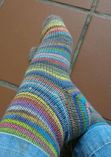 Plain vanilla sock pattern with an afterthought heel. Is written for 2 at a time. Sized for women's small, medium, and large. By Carle' Dehning. Free