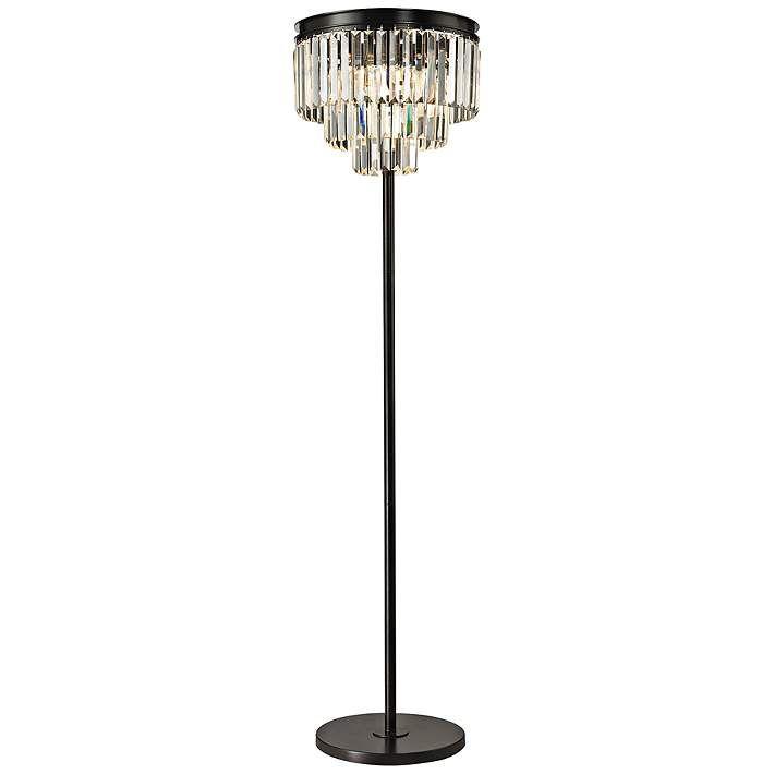 Palatial 62 High Crystal Floor Lamp 7p985 Lamps Plus Crystal Floor Lamp Chandelier Floor Lamp Crystal Floor