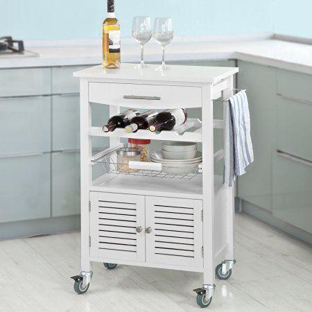SoBuy® Carrello cucina,Credenza,Cantinetta ,multiuso, bianco,FKW09-W, IT