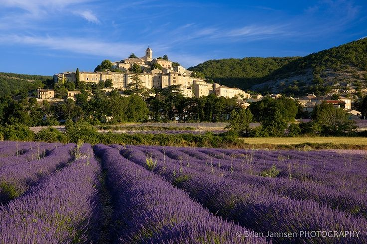 The Medieval Village Of Banon France Situated Above