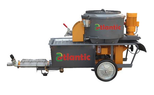 Atlantic launches its new Cementitious Fireproofing/Plastering Machine AWP 5. It comes with a 2L6 Worm Pump which can handle a number of different materials like pre-mixed plasters, fireproofing materials, acoustic, fiber glassed reinforced materials and many more. The modular system is suitable for spray pumpable wet mortars with grain size of up to 4 mm and it's easy to use features makes operation on site simple and and economical.