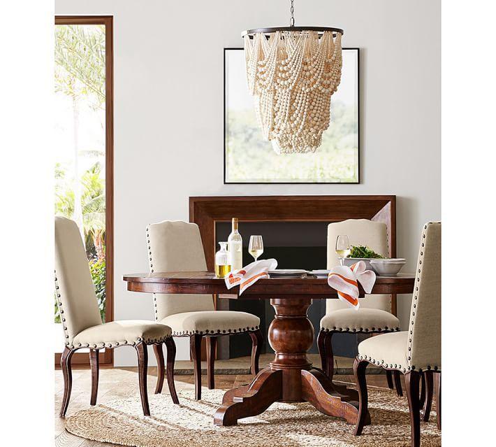 amelia wood bead indooroutdoor chandelier amelie distressed chandelier perfect lighting