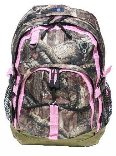 """Mossy Oak 17"""" Backpack Women's Girls PINK TRIM Camo Back to School or Hunting EXP,http://www.amazon.com/dp/B00ENQ5ADO/ref=cm_sw_r_pi_dp_j5TVsb0VYQB59ZFK"""