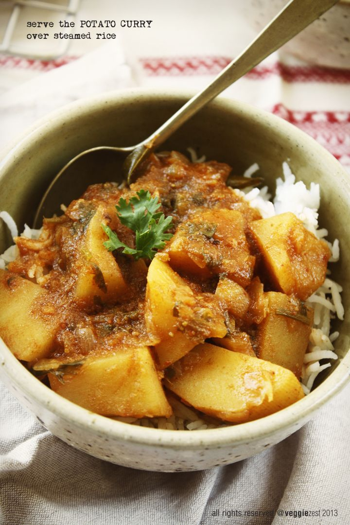 potato curry - requires trip to Indian store for spices!