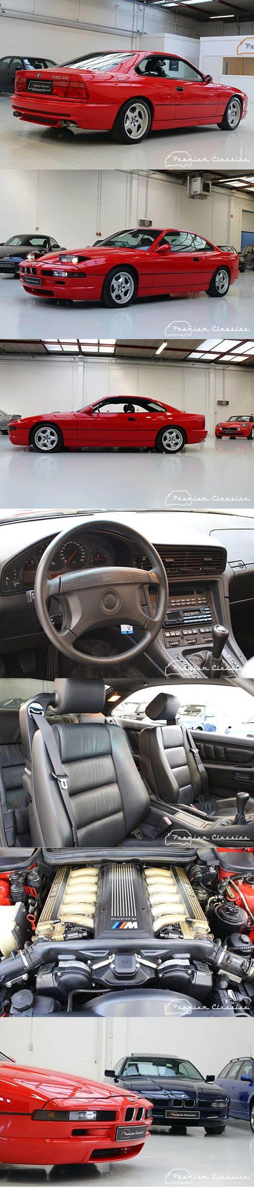 1995 BMW 850 CSi / Germany / 375hp V12 / red / hypercarbulli
