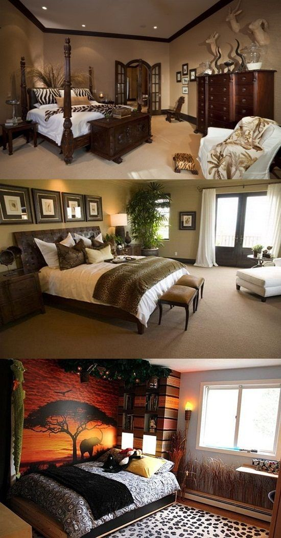 African Safari Bedroom Curtain Ideas - http://interiordesign4.com/african-safari-bedroom-curtain-ideas/