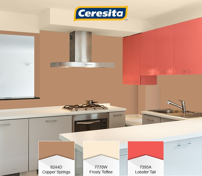 #CeresitaCL #PinturasCeresita #Color #Cocina #Creatividad #Pintura #Tendencia #Estilo #Decoración #Arquitectura  #Inspiración *Códigos de color sólo para uso referencial. Los colores podrían lucir diferentes, según calibrado de su monitor.