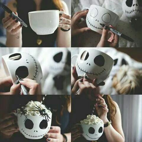 Deffinitly doing this with my white mugs!❤                                                                                                                                                                                 More