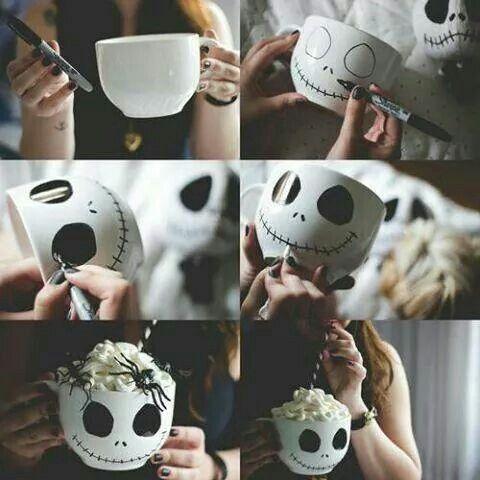 DIY / how to make a cute *NIghtmare before Christmas* mug <3