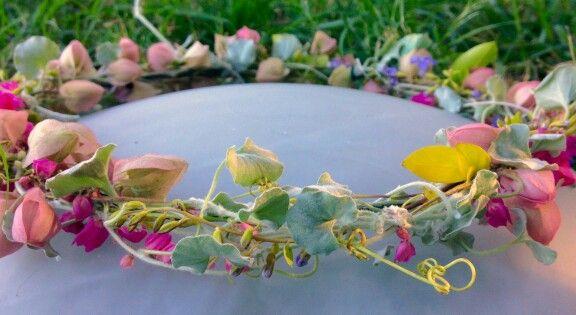 Home grown floral crown